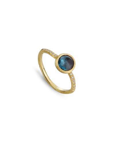 Marco Bicego Jaipur Blue Topaz & Diamond Ring