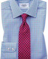 Charles Tyrwhitt Slim fit two colour check blue shirt