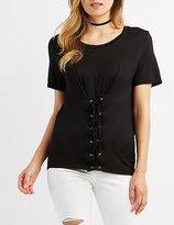 Charlotte Russe Corset-Detail T-Shirt