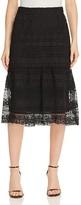 Lucy Paris Lace Flare Midi Skirt