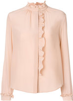RED Valentino frill trim blouse