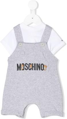 MOSCHINO BAMBINO Layered-Effect Logo Overalls
