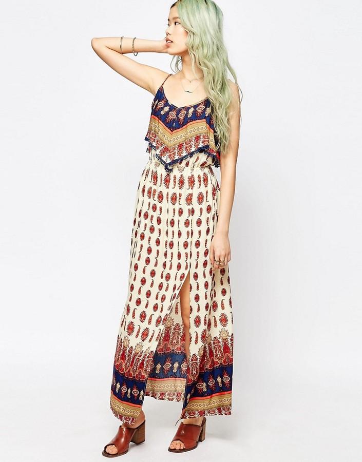 Hazel Boho Panel Print Maxi Dress