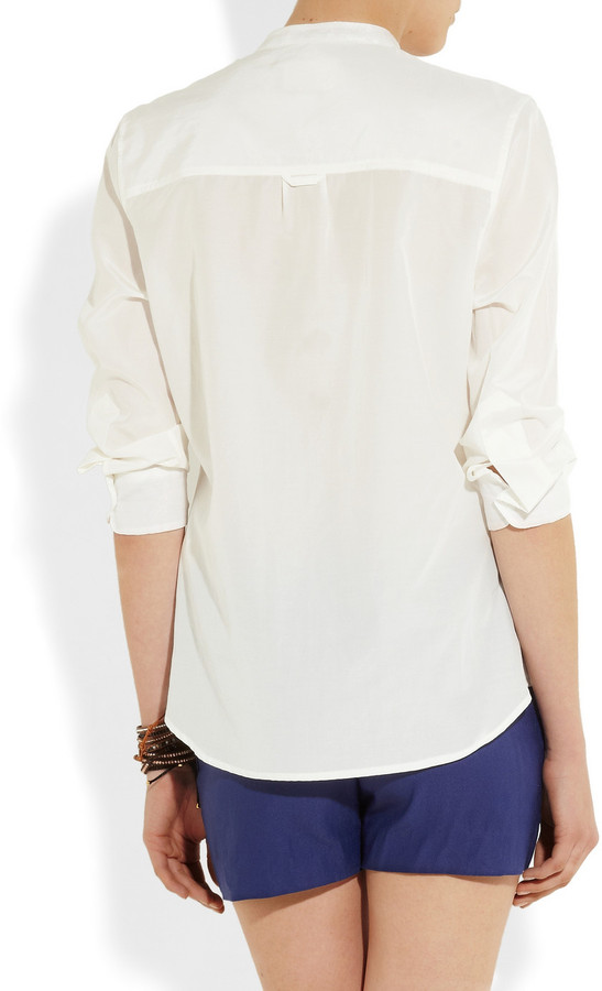 Band Of Outsiders Military silk and cotton-blend shirt