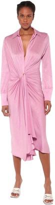 Dodo Bar Or Lorenne Draped Stretch Jersey Midi Dress