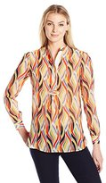 Anne Klein Women's Impression Stripe Blouse