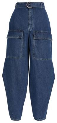 Stella McCartney Cotton Oversized Belted Jeans