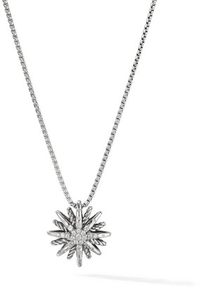 David Yurman Starburst Small Pendant Necklace with Diamonds/16mm