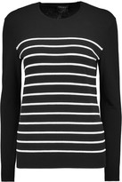 Theory Weson striped stretch-jersey top