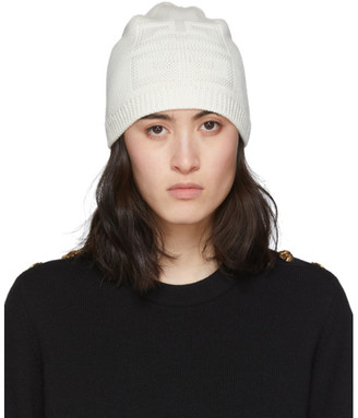 Givenchy White Knit 4G Beanie