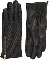 """Oasis LEATHER QUILTED GLOVE [span class=""""variation_color_heading""""]- Black[/span]"""