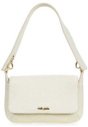 Cult Gaia Damara Snake-Embossed Leather Shoulder Bag