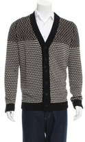 Bottega Veneta Patterned Knit V-Neck Cardigan