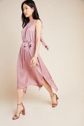 Velvet by Graham & Spencer Camilla Halter Midi Dress By in Purple Size L