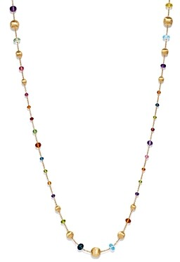 Marco Bicego 18K Yellow Gold Africa Color Multi Gemstone Necklace, 26