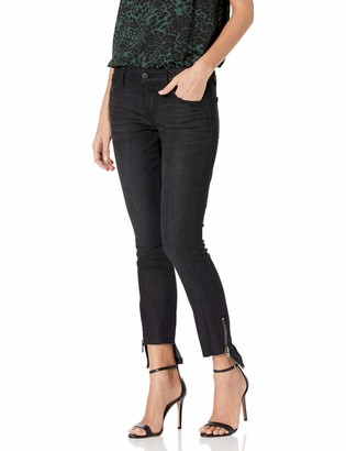 Siwy Women's Ciara Low Rise Hem Zip Skinny in Black Eclipse 28
