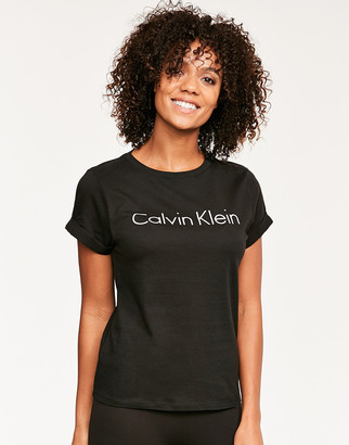 Calvin Klein Cotton Coordinating Top Short Sleeve Crew Neck