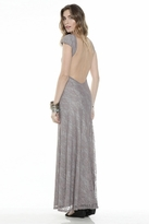 Lovers + Friends Vanity Fair Dress in Grey Lace