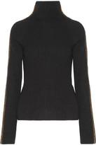 Haider Ackermann Velvet-trimmed Wool And Cashmere-blend Turtleneck Sweater