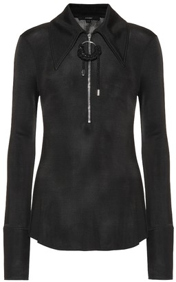 Ellery Stretch-knit zip-front top