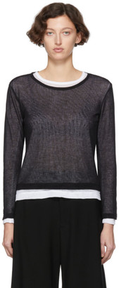 Y's Ys Black and White Layered Sweater