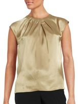 Nipon Boutique Pleated Satin Top