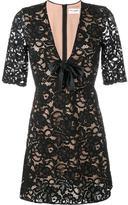 Saint Laurent floral lace cocktail dress