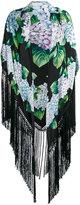 Dolce & Gabbana hydrangea print scarf - women - Silk/Viscose - One Size