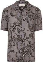 River Island Mens Grey floral print shirt