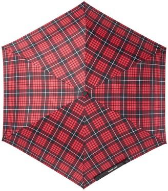 Steve Madden Tartan Plaid Folding Umbrella