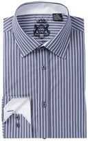 English Laundry Stripe Trim Fit Dress Shirt