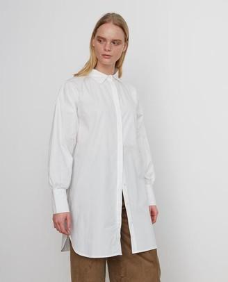 Beaumont Organic Lara Organic Cotton Shirt Dress In Off White - Off White / Medium