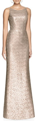 Dessy Collection Bateau Neck Sequin Gown