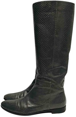 Sergio Rossi Grey Water snake Boots