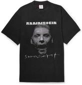 Vetements + Rammstein Oversized Printed Cotton-Jersey T-Shirt