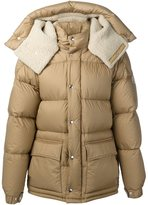Moncler shearling lined padded jacket