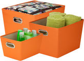 Honey-Can-Do 3-pc. Decorative Storage Bin Set