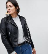 Vero Moda Curve Faux Leather Biker Jacket