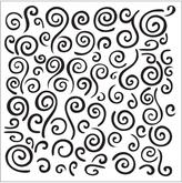 FolkArt Swirl Background Small Painting Stencil