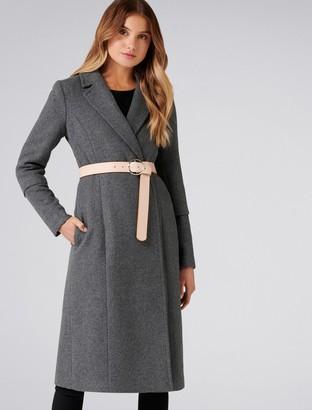 Forever New Jenny Longline Coat - Charcoal - 4