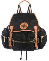 Tory Burch Leather-Trimmed Nylon Backpack