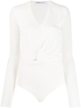 Agnona Draped Detailing Bodysuit