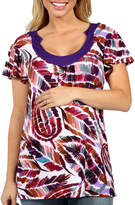 24/7 Comfort Apparel Summer Trails Tunic Top Maternity