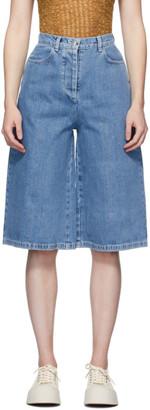 Sunnei Blue Denim Shorts