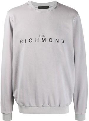 John Richmond Crew Neck Printed Logo Sweater