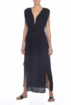 BOHO ME V-Neck Front Tie Cover-Up Maxi Dress