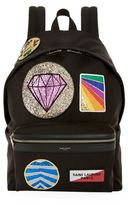 Saint Laurent Multi Patch City Backpack