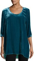 Johnny Was Lucia Velvet Scarf-Back Top, Plus Size