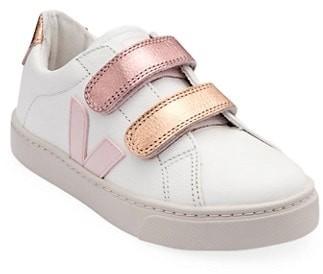 Veja Baby's, Little Girl's & Girl's V-Logo Metallic Grip-Tape Sneakers