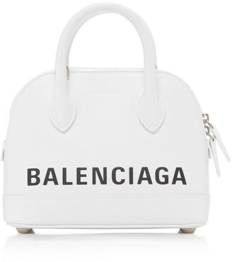 Balenciaga Ville Top-Handle Logo Bag